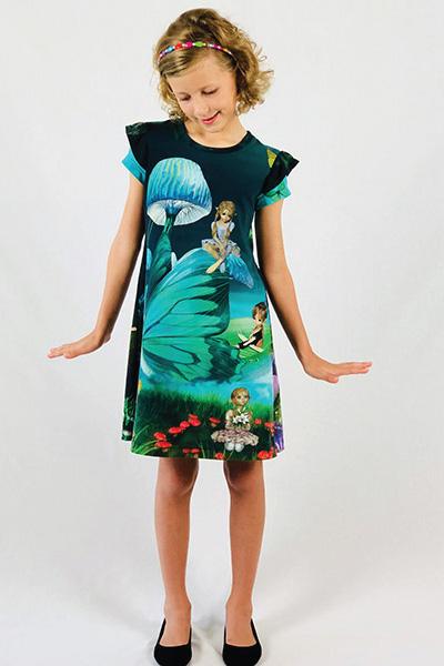 Girls Fun Tee Dress PDF Pattern