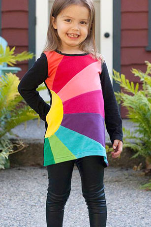 Girls Sunshine Tee PDF Pattern